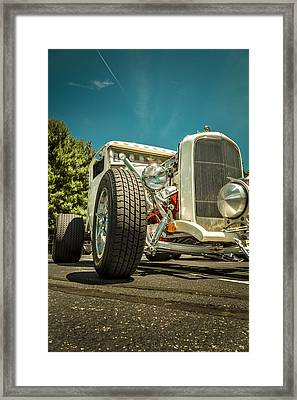 White Rod Framed Print