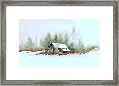White Roof Framed Print by William Renzulli