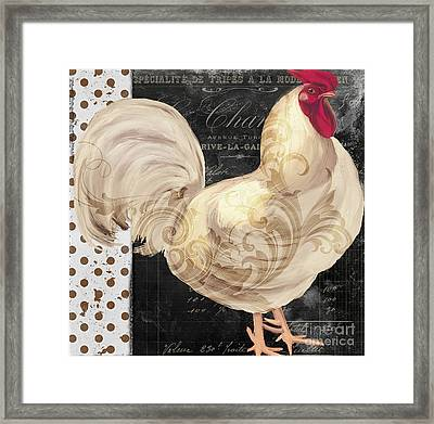 White Rooster Cafe I Framed Print by Mindy Sommers