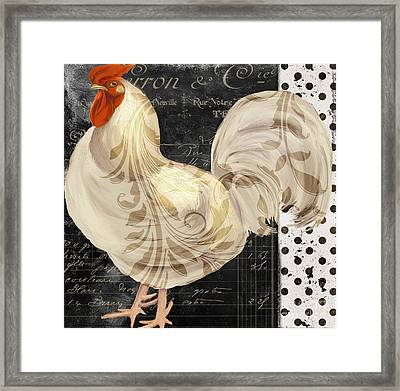 White Rooster Cafe II Framed Print by Mindy Sommers