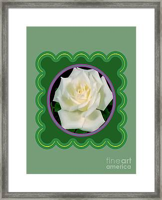 White Rose Flower Floral Posters Photography And Graphic Fusion Art Navinjoshi Fineartamerica Pixels Framed Print by Navin Joshi