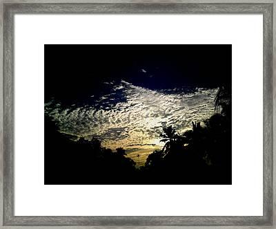 White  Framed Print by Rushan Ruzaick