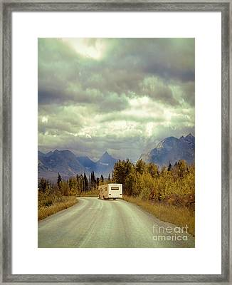 Framed Print featuring the photograph White Rv In Montana by Jill Battaglia