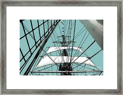 White Sails At Dawn Framed Print by Linda  Parker