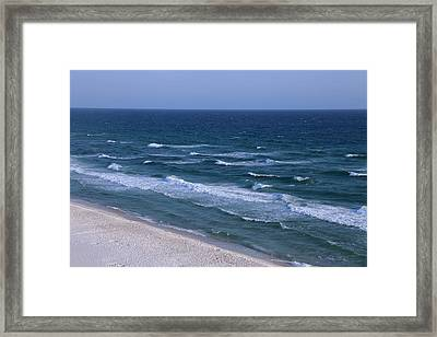 White Sand Blue Waters Framed Print by Theresa Campbell