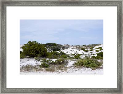 White Sand Dunes Framed Print by Tina B Hamilton