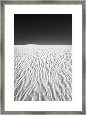 White Sands 3 Framed Print