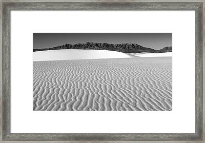 White Sands And San Andres Mountains Framed Print