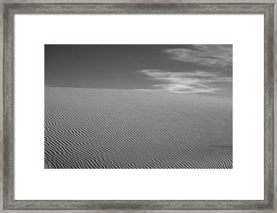 White Sands Dune Framed Print by Peter Tellone