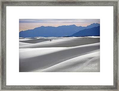 White Sands Hikers Framed Print by Martin Konopacki