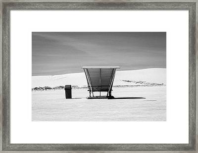Framed Print featuring the photograph White Sands National Monument #10 by Lou Novick
