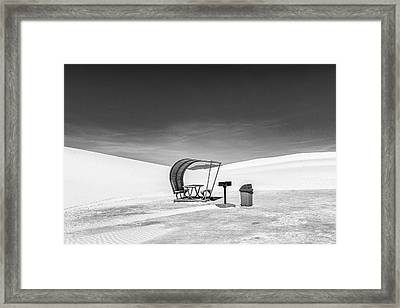 Framed Print featuring the photograph White Sands National Monument #8 by Lou Novick