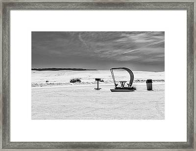 Framed Print featuring the photograph White Sands National Monument #9 by Lou Novick