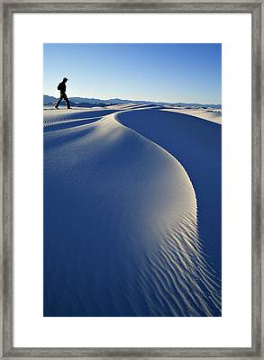 White Sands National Park, New Mexico Framed Print by Dawn Kish