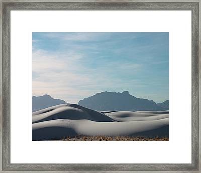 Framed Print featuring the painting White Sands Natural Anatomy  by Jack Pumphrey
