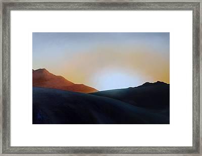 White Sands Sunset Framed Print by Debbie Anderson