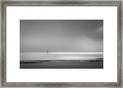 White Sandy Shore- B/w Framed Print by Marvin Spates
