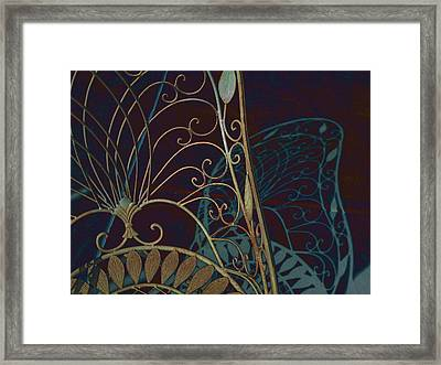 White Shadow Framed Print