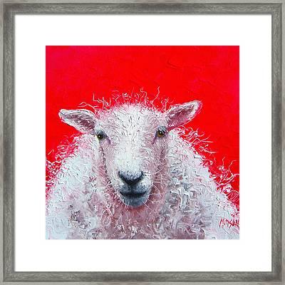 White Sheep Framed Print by Jan Matson