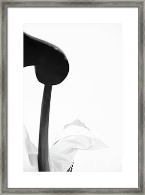 White Shirt #5578 Framed Print