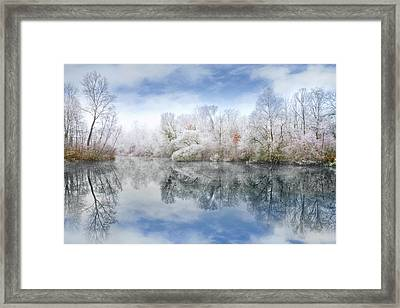 White Space Framed Print