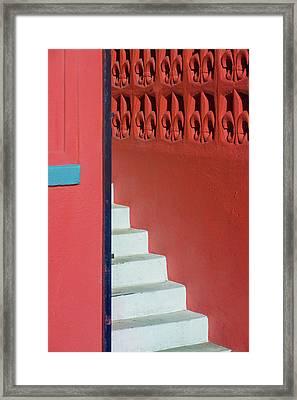 White Staircase Venice Beach California Framed Print