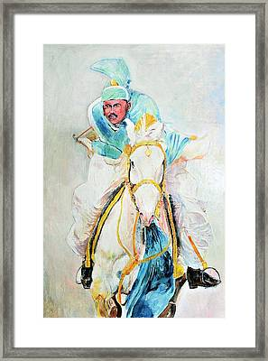 White Stallion Framed Print