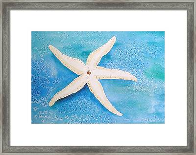 White Starfish Framed Print