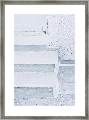 White Stone Steps Framed Print by Tom Gowanlock