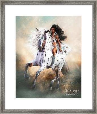 Framed Print featuring the digital art White Storm by Shanina Conway