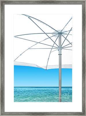 White Sunshade Framed Print