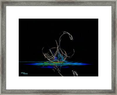 White Swan Framed Print