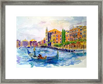 White Swan Of Cities Framed Print