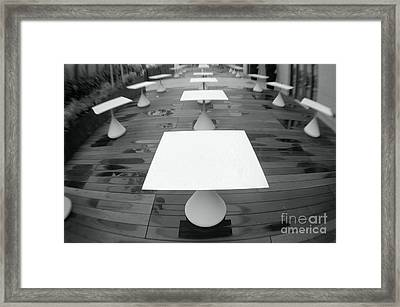 White Tables Framed Print