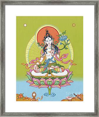 White Tara Framed Print