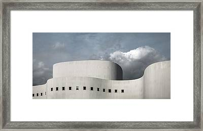 White Theater Framed Print by Gilbert Claes