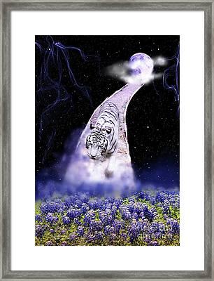 White Tiger Fantasy Framed Print
