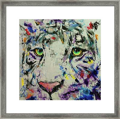 White Tiger Framed Print by Michael Creese