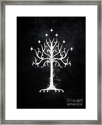 White Tree Of Gondor  Framed Print by Jonathon Summers