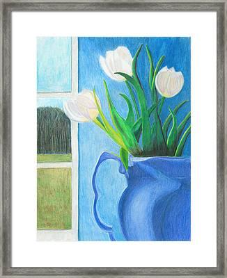 White Tulips Framed Print by Arlene Crafton