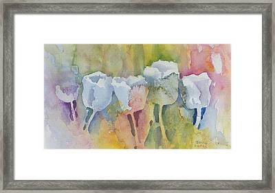 White Tulips Framed Print by Jerry Kelley