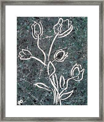White Tulips Framed Print by Jilian Cramb - AMothersFineArt