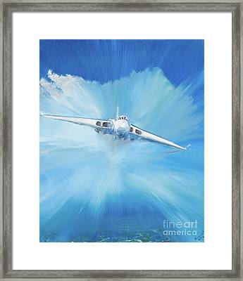 White Vulcan Framed Print by Vincent Alexander Booth
