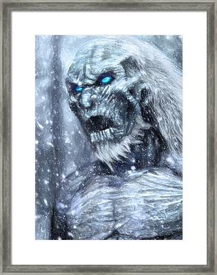 White Walker Framed Print by Taylan Apukovska