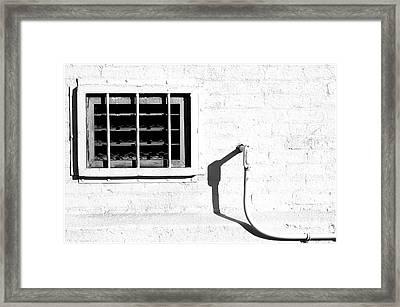 White Wall  Framed Print by Rhea Malinofsky