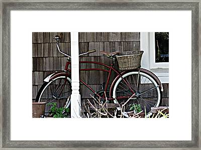 White Wall Tires Framed Print by Mg Blackstock