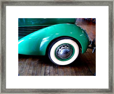 Framed Print featuring the photograph White Walls 1936 Teal by Margie Avellino