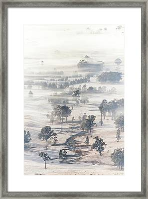 White Wash Framed Print