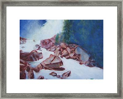 White Water And Solid Rock Framed Print by Howard Stroman