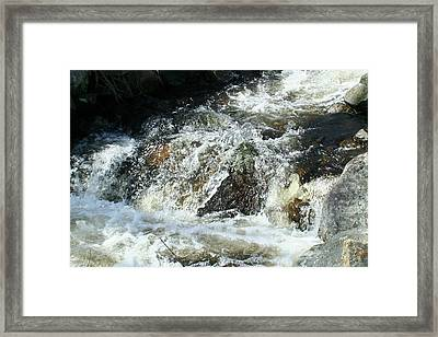 Framed Print featuring the digital art White Water by Barbara S Nickerson